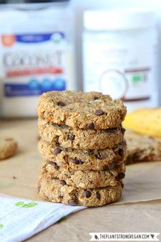 Salted Chocolate Chip Oatmeal Cookies | #Vegan #GlutenFree | ThePlantStrongVegan.com