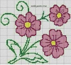 This Pin was discovered by Yo. Cross Stitch Borders, Cross Stitch Flowers, Cross Stitch Designs, Cross Stitching, Cross Stitch Embroidery, Cross Stitch Patterns, Loom Beading, Beading Patterns, Embroidery Patterns