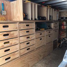 Another view of Steve's work trailer, modeled after the Paulk Mobile Workshop. #ronpaulk #thepaulkw - thepaulkworkbench