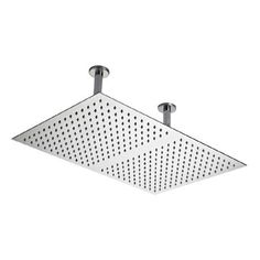 Hudson Reed - Rectangular Dual Ceiling Mounted Shower Head 600 x 400mm- Stainless Steel - HEAD66