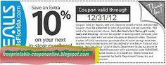 Bealls Coupons Ends of Coupon Promo Codes MAY 2020 ! Save on GoodShop with the Bealls promotional code that appears when shopping onli. Pizza Coupons, Mcdonalds Coupons, Kfc Coupons, Walgreens Coupons, Target Coupons, Olive Garden Coupons, Pizza Hut Coupon, Home Depot Coupons, Hobby Lobby Wedding Invitations