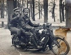 http://media.englishrussia.com/112012/motorus/motorus001-18.jpg The men are from a motorized company of the Russian Imperial Army. 1916