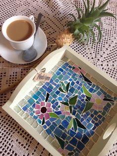 Bandeja mosaico floral