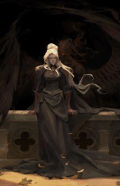 Fantasy, couple, woman and vampire, wallpaper Character Creation, Character Concept, Character Art, Concept Art, Fantasy Inspiration, Character Design Inspiration, Dnd Characters, Fantasy Characters, Dark Fantasy