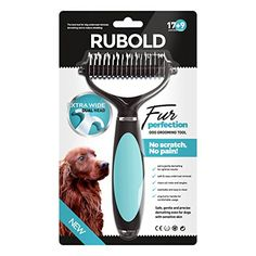 Dematting Tool for Dogs - The Best Dog Grooming Comb for Undercoat Removal - Professional Rake Brush for Small, Medium and Large Breeds with Medium and Long Hair Coats - Rubold Fur Perfection RUBOLD Premium Dog Products http://www.amazon.com/dp/B00STEJE8S/ref=cm_sw_r_pi_dp_4OiHwb0X4KPH6