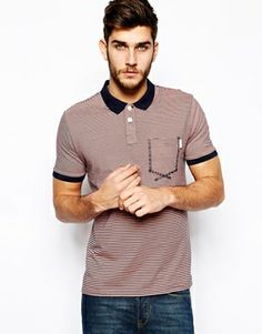 Paul Smith Jeans Polo with Contrast Collar & Stripe