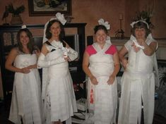 bridal shower game: Toilet Paper Bridal Gowns...team captains pick their designers and then are wrapped to perfection. bride chooses winner