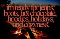 I do miss seasons and my Ugg boots and campfires