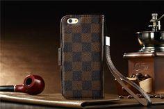 Modern Louis Vuitton LV Leder FlipCase Handy Schutz Hülle mit Seil für iphone 6 und Samsung Note 4 - VartisMedia.com