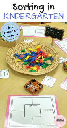 Kindergarten Sorting Activities with a FREEBIE | Creative Kindergarten