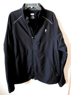 FILA SPORT sz XXL Zippered Front Long Sleeve Jacket #FilaSport #CoatsJackets