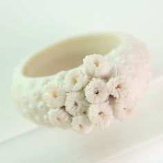 porcelain jewelry_ coral&sponge ring