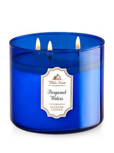Bergamot Waters 3-Wick Candle - Bath And Body Works