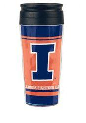 Illinois Fighting Illini 16oz Contour Travel Mug