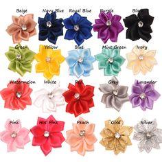 20PCS Satin Ribbon Flower Polygon Hair Flowers Mini 3cm Star Flowers DIY Accessories Boutique Flower Accessories-in Hair Accessories from Mother & Kids on Aliexpress.com | Alibaba Group