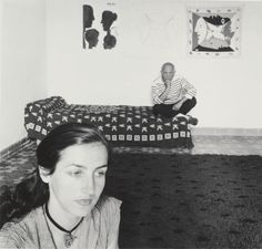 """Robert Doisneau-Picasso and Francoise Gilot, 1952  """"We must...remember that a picture is also made up of the person who looks at it....It is about that walk that one takes with the picture when experiencing it. I think...this is what counts. One must let the viewer extricate himself, free himself for the journey. You offer the seed and...the viewer grows it inside himself. For a long time I thought that I had to give the entire story to my audience. I was wrong."""""""
