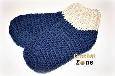 Free Crochet Pattern Basic Slipper Socks by Crochet Zone