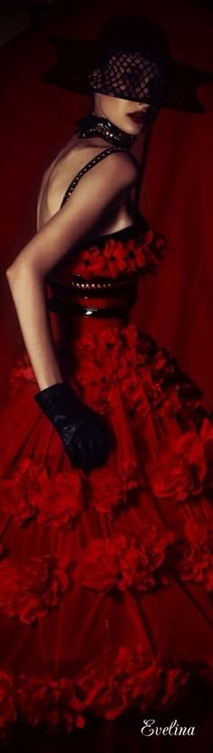 Vanda | Red & Black Seduction | .McQueen