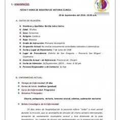 HISTORIA CLÍNICA DIRIGIDA AL PROBLEMA I.- ANAMNESIS FECHA Y HORA DE REGISTRO DE HISTORIA CLINICA: 30 de Septiembre del 2014, 10:30 a.m. A.- DATOS DE FILIACI. http://slidehot.com/resources/historia-clinica-erc.61595/