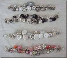 ,must make one of these vintage button bracelets. (no tut)