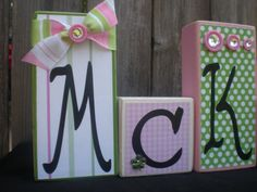 Personalized Wooden Name Blocks  GIRL'S NAME by Memoriesoffaith, $40.00