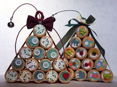 Alberi di Natale con tappi di sughero