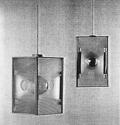 """""""Lanterne Japonaise"""" Lamps 1925-30.  Eileen Gray / Painted steel, Perspex, mirrored glass globes"""