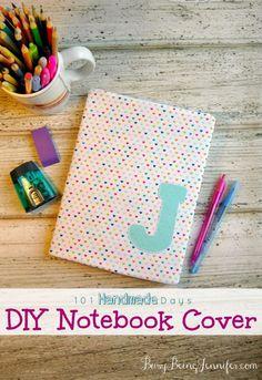 DIY Notebook Cover - BusyBeingJennifer.com #101HandmadeDays