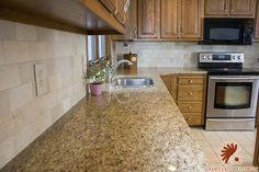 backsplashes for giallo ornamental granite - Google Search