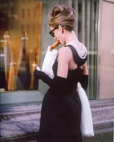 Audrey Hepburn as Holly Golightly in Breakfast at Tiffany's, the iconic film that triggered my pursuit for a more feminine aesthetic. All aboard the Audrey Hepburn train.