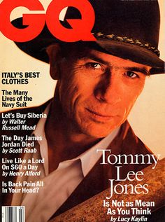 Tommy Lee Jones Young, Gq Magazine Covers, Henry Lee, I Fall To Pieces, Celebrity Magazines, Thriller Film, Best Supporting Actor, Young Actors, Jfk