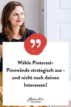 Was ich dir heute für ein erfolgreiches Pinterest Marketing empfehle – u.a. die Pinterest Pinnwände strategisch zu nutzen und nicht nach deinen Interessen – das habe ich bei meinem Pinterest Start noch nicht gewusst. In den fast 4,5 Jahren, in denen ich Pinterest für mein Online Business nutze, habe ich viele Erfahrungen gesammelt. Die wichtigsten für deinen Pinterest Start findest du auf dem Blog. Pinterest für Unternehmen | Online Marketing Tipps, Pinterest Tipps für Anfänger…