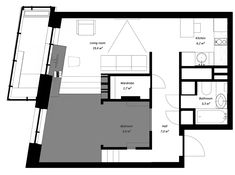 House Plans Under 50 Square Meters: 26 More Helpful Examples of Small-Scale Living,Cortesía de Ruetemple Minimal House Design, Minimal Home, Small House Design, Studio Floor Plans, House Floor Plans, Apartment Plans, Apartment Interior, Nook Architects, Archdaily Mexico