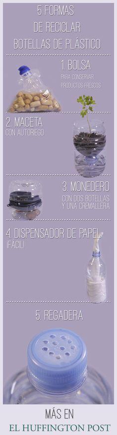 Cinco formas curiosas de reciclar botellas de plástico