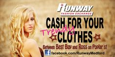 Cash for you Clothes! 70% off regular retail prices EVERYDAY! Shop top brands like Miss Me, BKE, Rock Revival....your favorites for LESS at Runway!