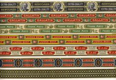 Artfully Musing: Sheet of Cigar Box Edgings - First Set (To go with cigar box images) By Laura Carson