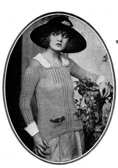 Downton Abbey Era Knit Sweater THE WELLINGTON PATTERN by 2olddivas, $4.00
