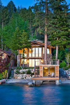 Waterfront Homes: Modern-Rustic Lake House in Zephyr Cove, Nev. | Houses | HGTV FrontDoor