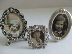 Online veilinghuis Catawiki: Drie kleinformaat zilveren fotolijstjes