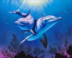 Пара дельфинов - рисунок Christian Lassen