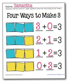 Add to Decompose Hands-On practice for Numbers 2, 3, 5 and