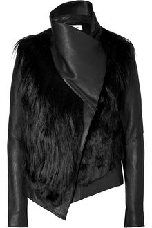Helmut Lang Reversible Flux Fur Leather Jacket