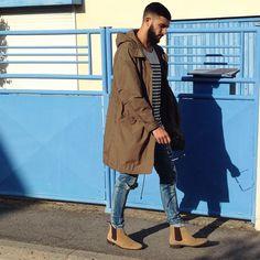 Long Jacket, Chelsea Boots, Fall Fashion