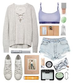 """""""Blanche"""" by sophiehackett ❤ liked on Polyvore featuring African Botanics, Louis Vuitton, NARS Cosmetics, Calvin Klein Underwear, Prtty Peaushun, Ann Demeulemeester, Givenchy, Isadora, Madewell and MAKE UP FOR EVER"""
