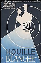 Original 1950s French Art Deco Evening Ball Poster