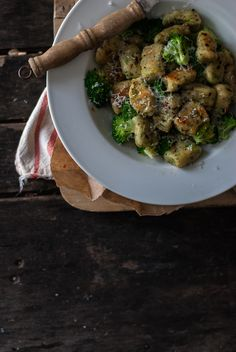 Broccoli Lemon Gnocchi with Chili Brown Butter