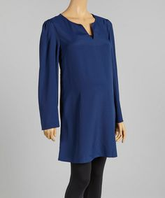 Love this Navy Maternity Tunic by Love My Belly on #zulily! #zulilyfinds