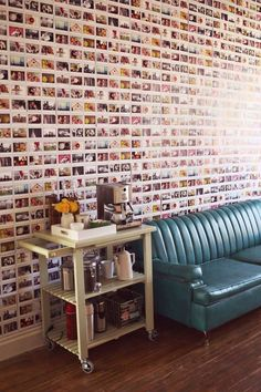 Another amazing home DIY by Exposito Exposito Woodbury Pehrson Larson of A Beautiful Mess. A polaroid wall! Photowall Ideas, Polaroid Wall, Polaroid Photos, Polaroids, Polaroid Display, Polaroid Pictures Display, Polaroid Ideas, Polaroid Camera, Home Decor Ideas