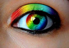 I can do that with the eye. The make up. Now that would be cool.lol