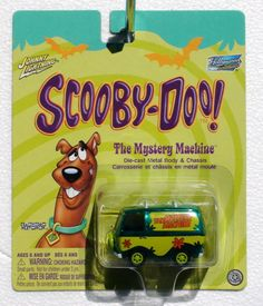 2004 JOHNNY LIGHTNING HOLLYWOOD WHEELS CHROME GREEN SCOOBY DOO MYSTERY MACHINE